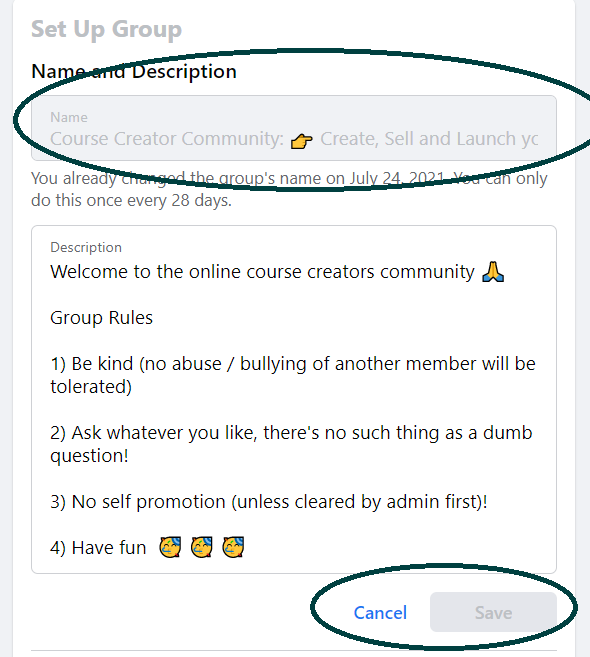 How to Change a Facebook Group Name (2021)