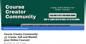Course Creator Community: 👉 Create, Sell and Market your Online Courses!