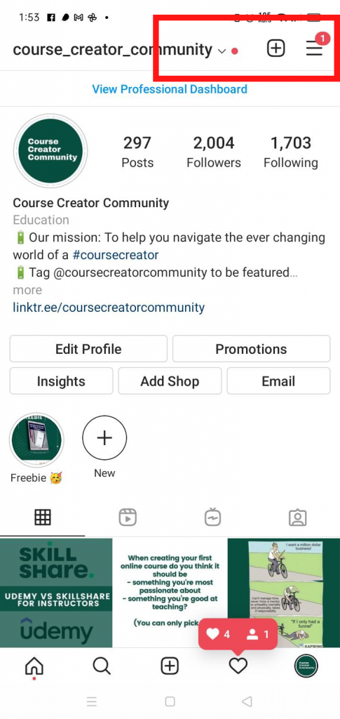 how to check when you joined instagram