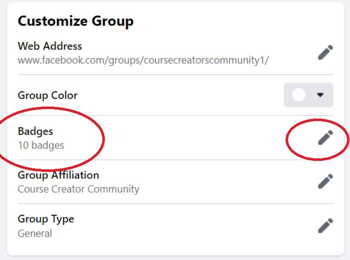 Facebook Group Badges